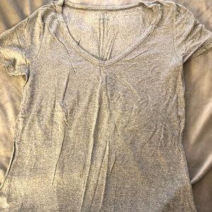 Sweaters - Gray v neck